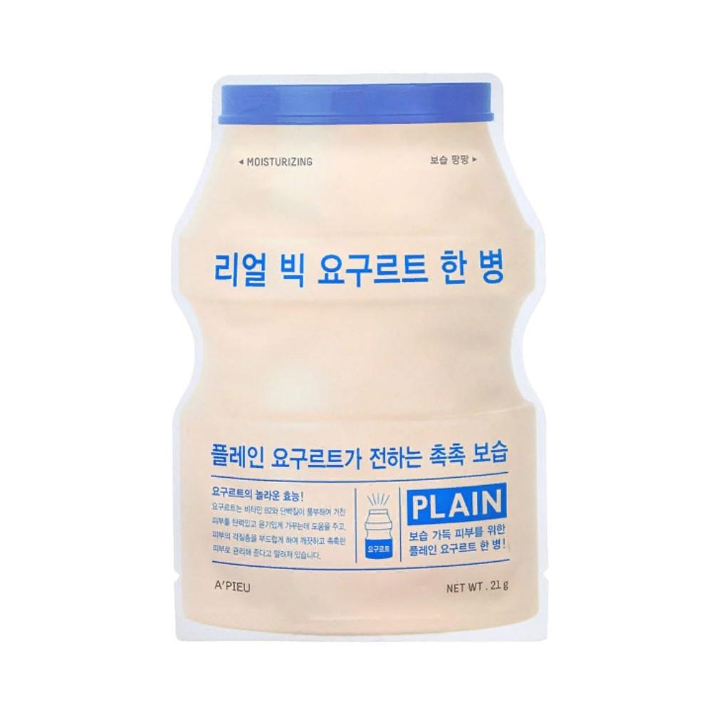 Интенсивно увлажняющая йогуртовая маска для лица A'pieu Real Big Yogurt One-Bottle Plain 21 г (8809530031834)