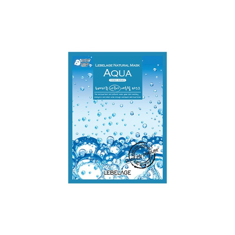 Тканевая маска для лица с морской водой Lebelage Natural Mask Aqua 23 г (8809383000551)