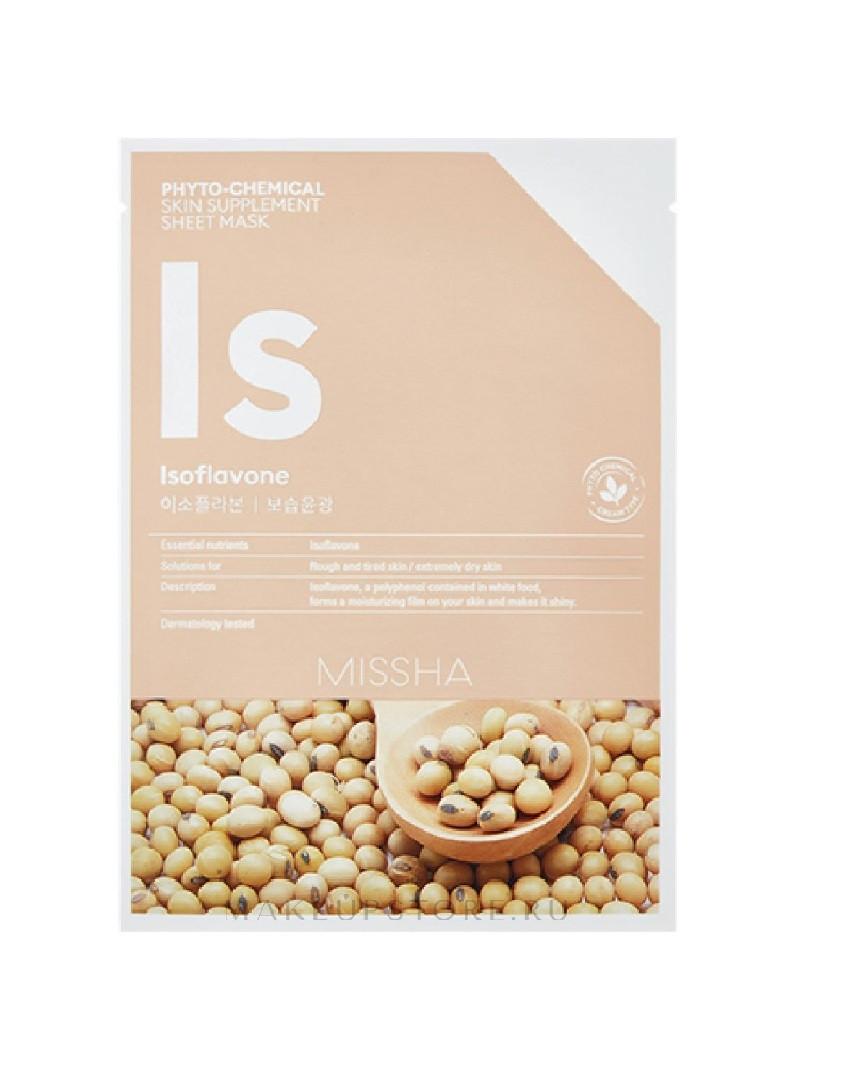 Увлажняющая маска для лица Missha Phytochemical Skin Supplement Sheet Mask Isoflavone/Deep Moisture 25 мл (8809581456068)