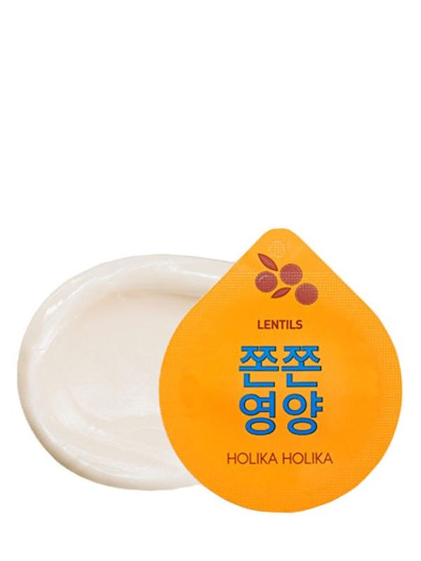Капсульная ночная маска с лифтинг эффектом Holika Holika SuperFood Capsule Pack Firming Lentils 10 г (8806334371098)