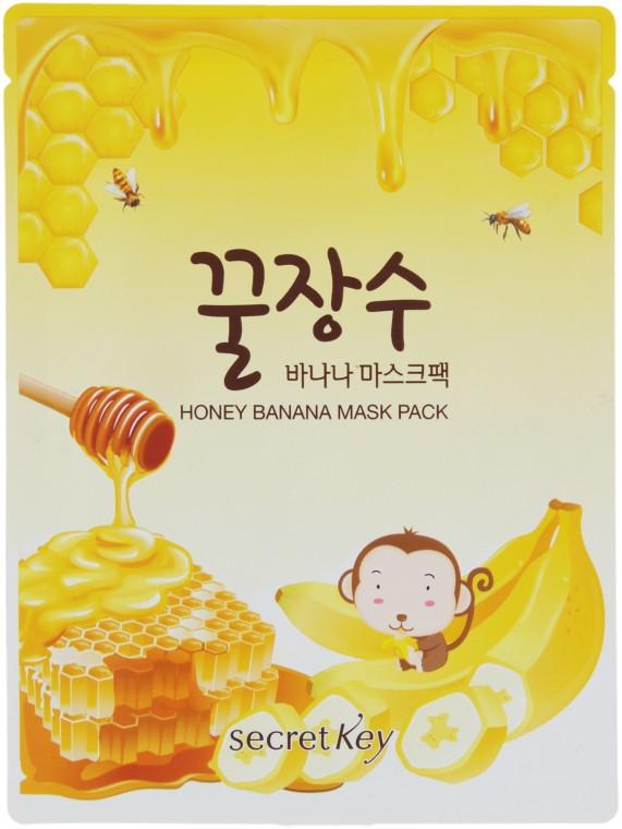 Питательная маска для лица с экстрактами мёда и банана Secret Key Honey Banana Mask Pack 25 г (8809305997273)