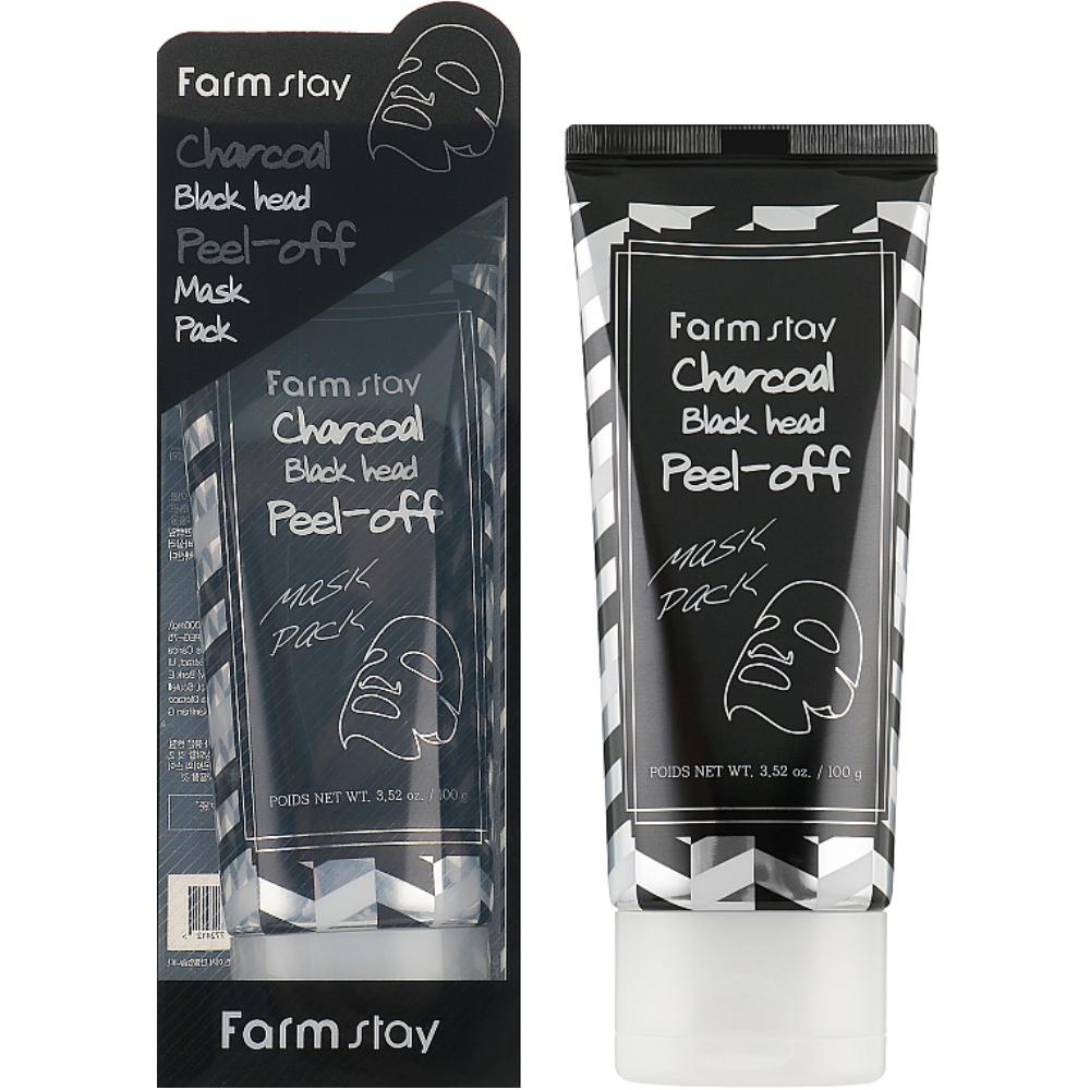 Очищающая маска-пленка для лица с углем Farmstay Charcoal Black Head Peel-Off Mask Pack 100 мл (8809438483209)
