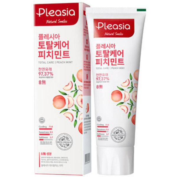 Зубная паста с персиком и мятой Amore Pacific Pleasia Peach Mint Toothpaste 100 г (8809559326065)