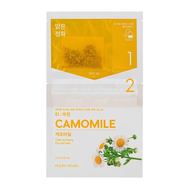 """Успокаивающая чайная маска для лица """"Ромашка"""" Holika Holika Tea Bag Mask Camomile 27 мл (8806334380519)"""