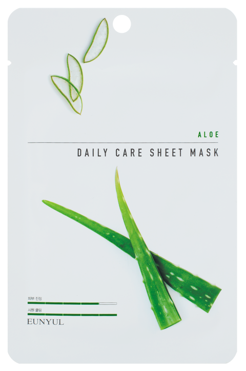 Увлажняющая тканевая маска для лица с экстрактом алоэ Eunyul Daily Care Mask Sheet Aloe 22 г (8809435405303)