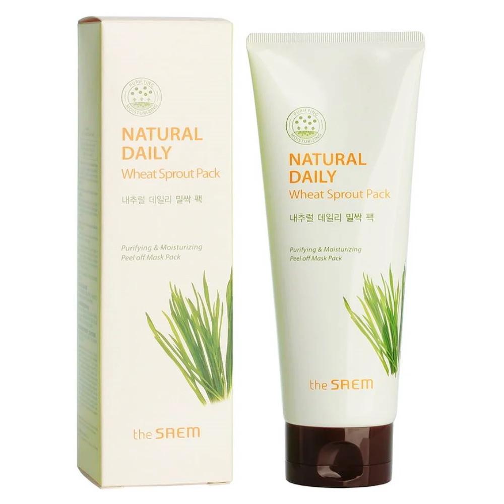 Очищающая маска-плёнка для лица с экстрактом ростков пшеницы The Saem Natural Daily Wheat Sprout Pack 120 г (8806164156407)
