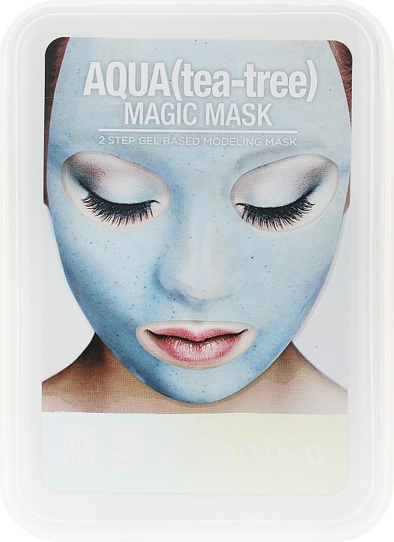 Маска для лица с коллоидным золотом Lindsay Luxury Aqua Tea-Tree Magic Mask 65+15 г (8809371143918)