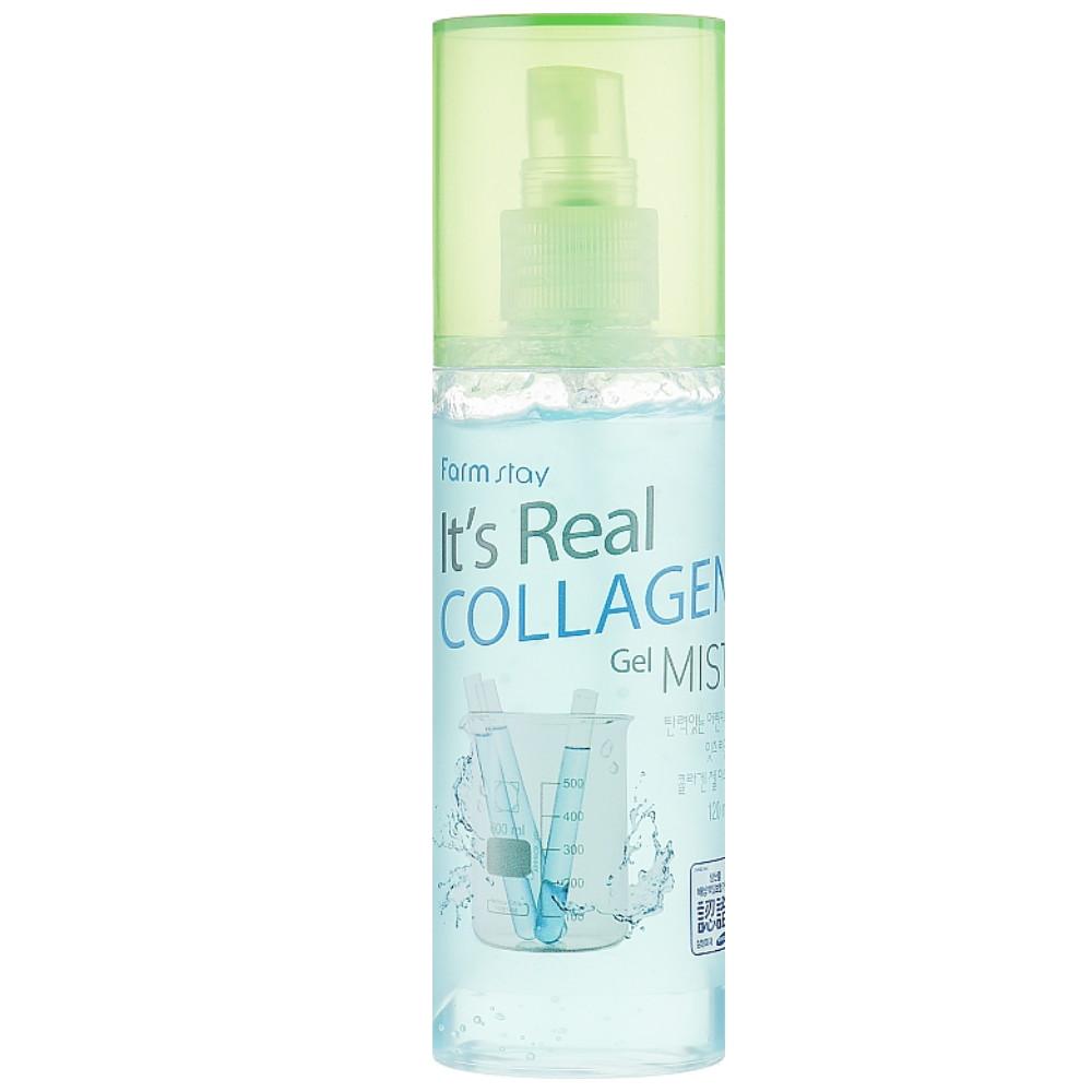 Спрей гель-мист для лица с коллагеном Farmstay It'S Real Collagen Gel Mist 120 мл (8809469771429)