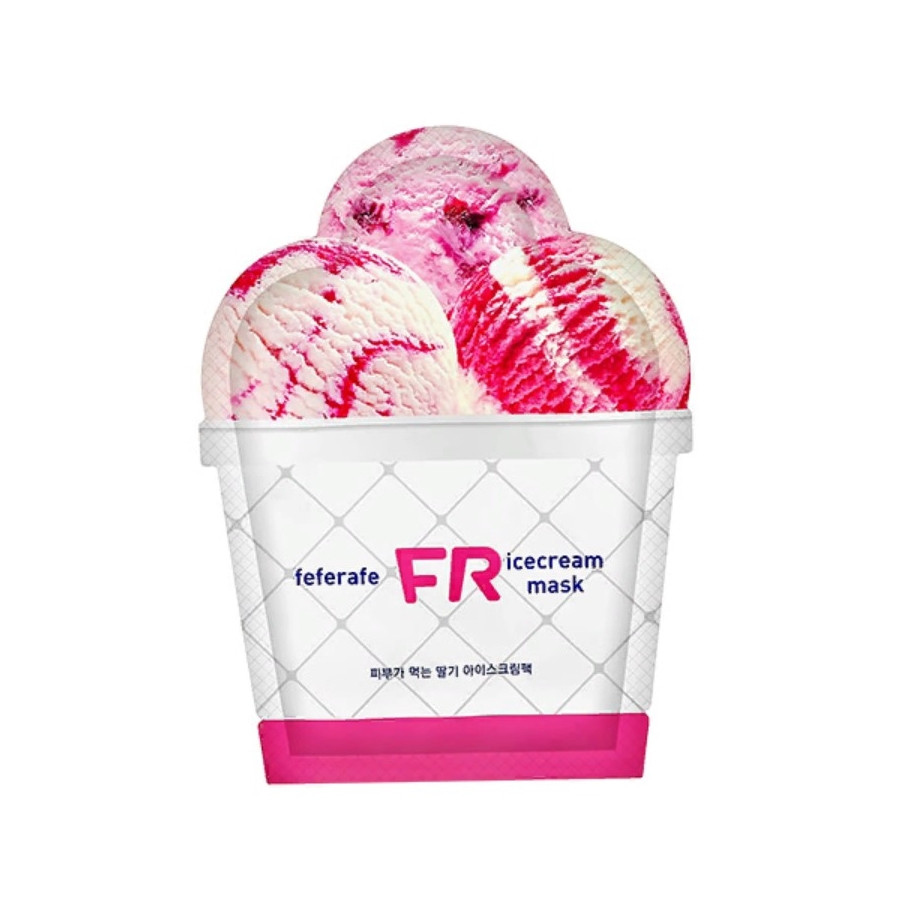 Маска для лица охлаждающая Feferafe FR Strawberry Ice Cream Mask 25 мл (8809563063444)