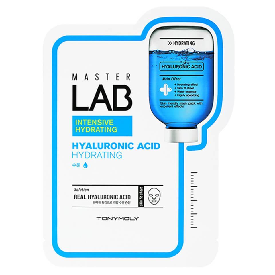 Маска для лица с гиалуроновой кислотой Tony Moly Master Lab Hyaluronic Acid Hydrating 19 мл (8806358558598)
