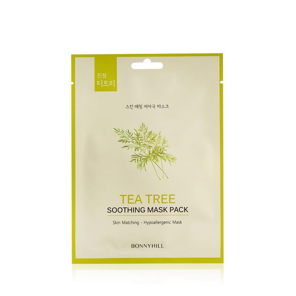 Тканевая маска для лица с зеленым чаем Bonnyhill Tea Tree Mask Pack 23 г (8809087931427)