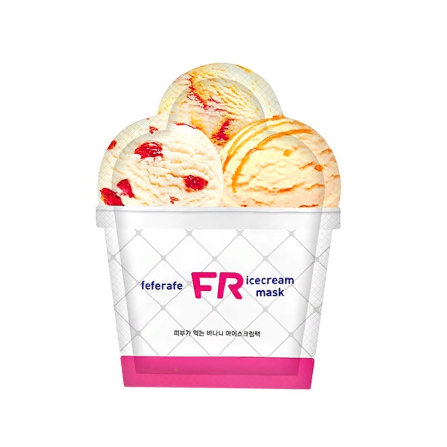 Маска для лица мороженое с бананом Feferafe FR Banana Ice Cream Mask 25 мл (8809563063451)