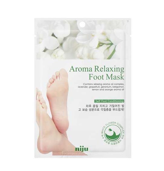 Маска для ног расслабляющая Konad Niju Aroma Relaxing Foot Mask Pack 18 мл (8809109831902)