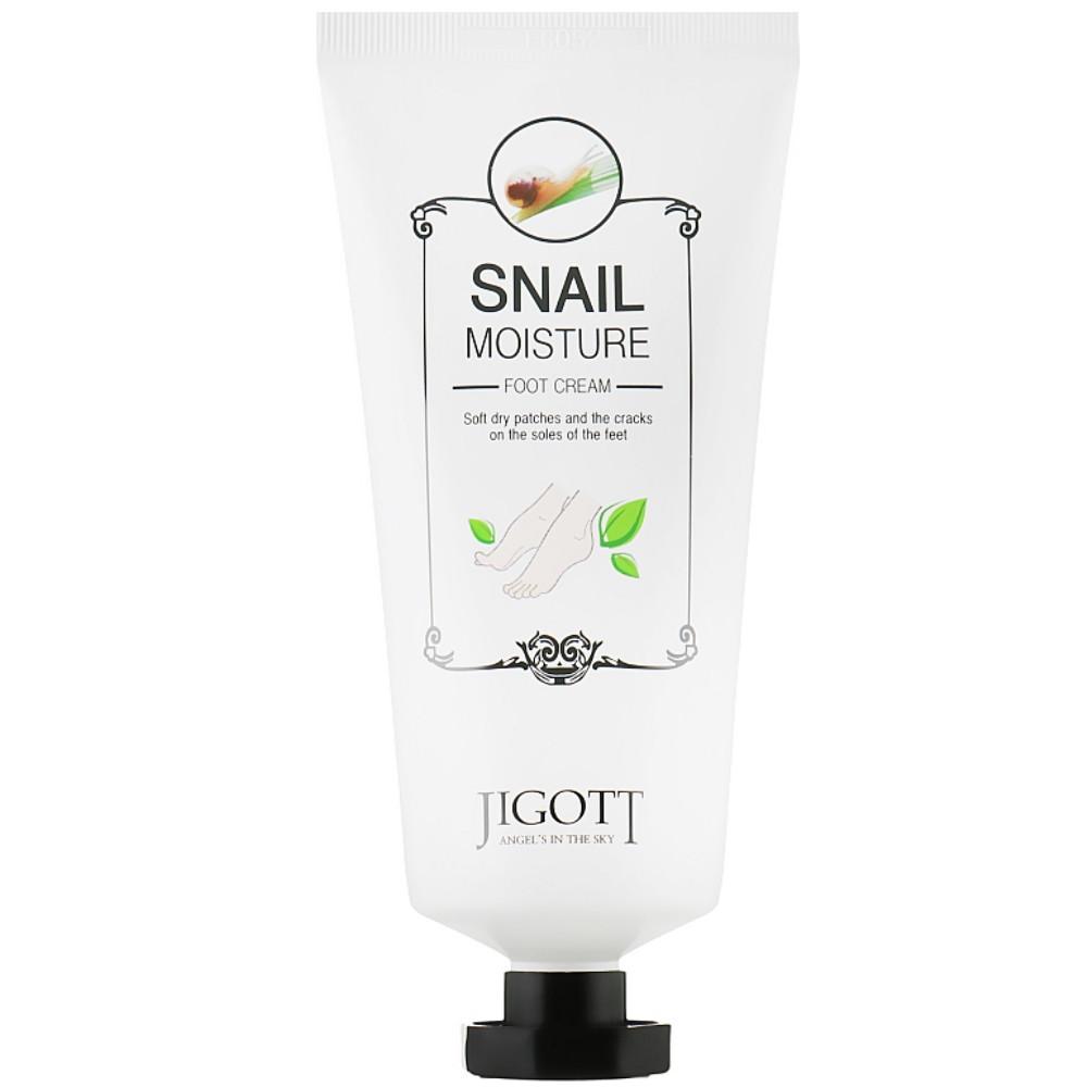 Увлажняющий крем для ног с экстрактом слизи улитки Jigott Real Moisture Snail Foot Cream 100 мл (8809344971203)