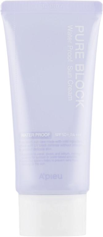 Солнцезащитный крем водостойкий A'Pieu Pure Block Natural Waterproof Sun Cream SPF50+/PA+++ 50 мл (8809581450622)