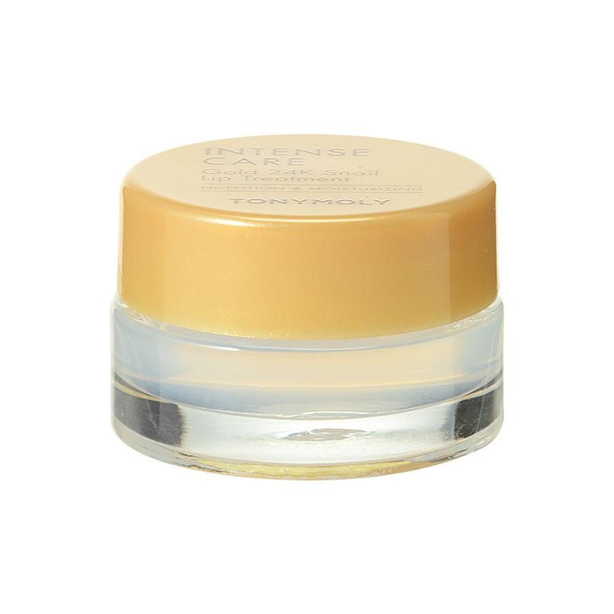Улиточный солнцезащитный бальзам для губ Tony Moly Intense Care Gold 24K Snail Lip Treatment 10 г (8806194009179)