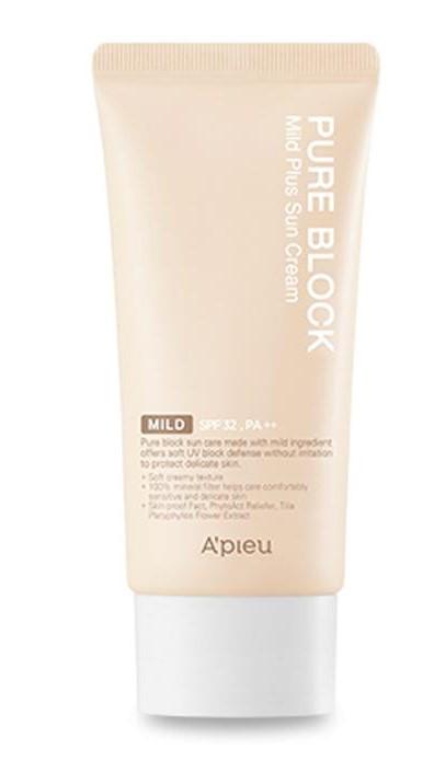 Мягкий солнцезащитный крем A'pieu Pure Block Mild Plus Sun Cream Spf32/Pa+++ 50 мл (8809581450639)