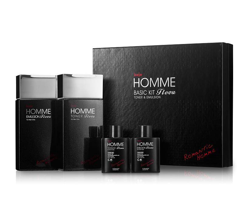 Набор косметики для мужчин (тонер+эмульсия) Konad Iloje Flobu Homme Basic Kit 2 Set (140+30мл) (8809109832558)