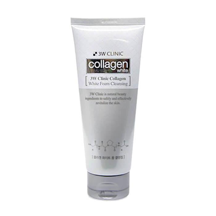 Осветляющая пенка для умывания с коллагеном 3W Clinic Collagen Whitening Foam Cleansing 180 мл (8809445612142)