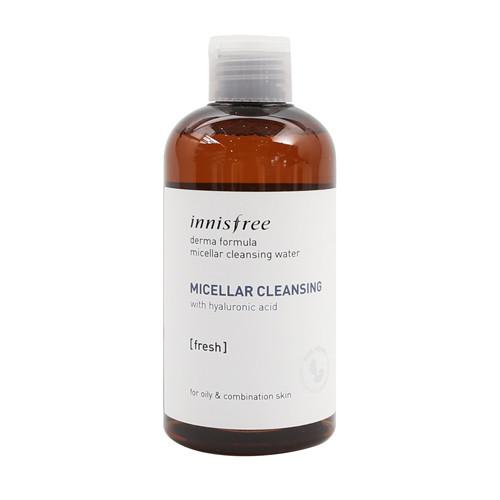 Мицеллярная вода с гиалуроновой кислотой Innisfree Derma Formula  Micellar Cleansing Water Fresh 250 мл (8809612864503)