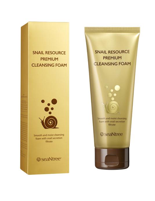Пенка для умывания лица с муцином улитки Seantree Snail Resource Premium Cleansing Foam 150 мл (8809476693509)