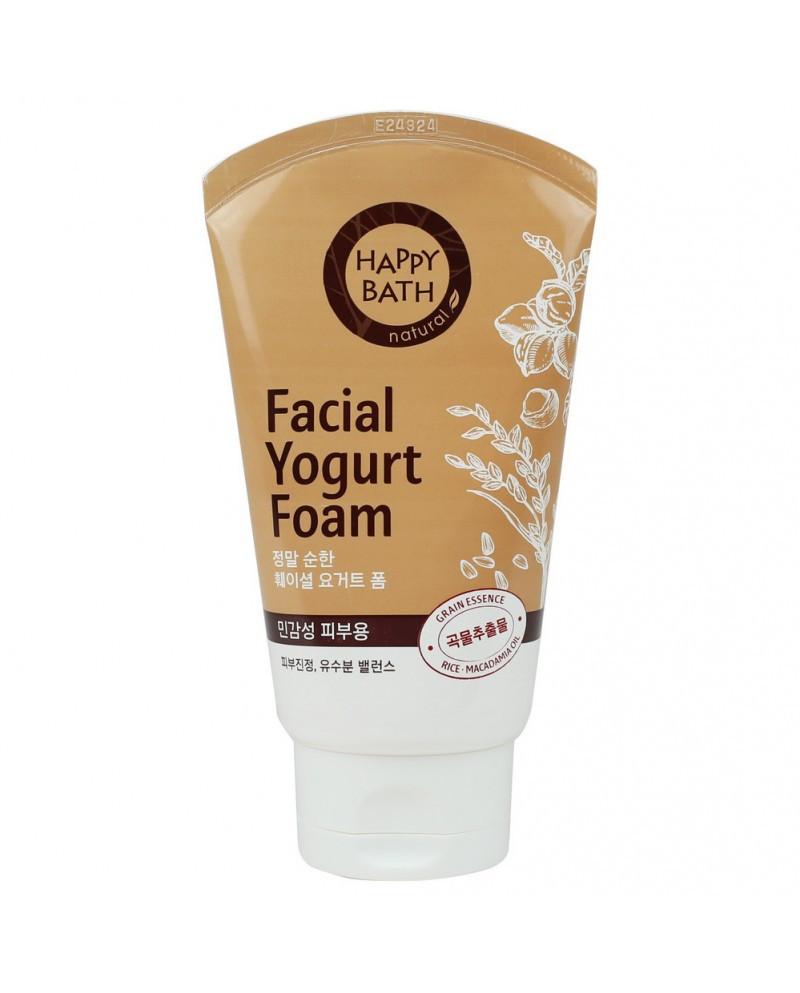 Йогуртовая пенка для умывания со злаками для чувствительной кожи Happy Bath Real Mild Facial Yogurt Foam 120 г (8806403090912)
