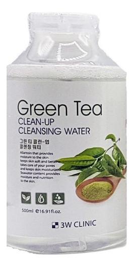 Мицеллярная очищающая вода с экстрактом зеленого чая 3W Clinic Green Tea Clean-Up Cleansing Water 500 мл (8809233711033)