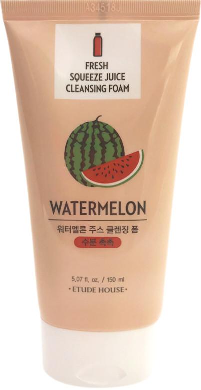Ощищающая пенка для умывания лица с экстрактом сока арбуза Etude House Fresh Squeeze Juice Cleansing Foam (8806199489617)