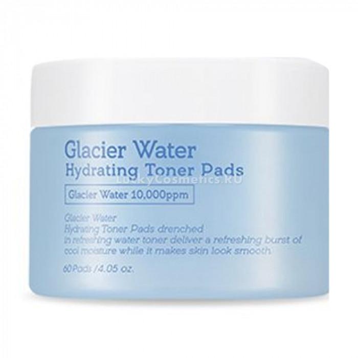Диски-тонер для лица с ледниковой водой A'pieu Glacier Water Hydrating Toner Pads 60 шт (8809643501545)