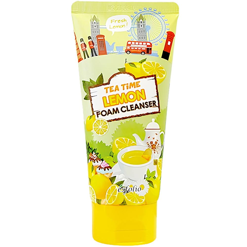 Пенка для умывания лица с чаем с лимоном Esfolio Tea Time Lemon Foam Cleanser 120 мл (8809386883021)