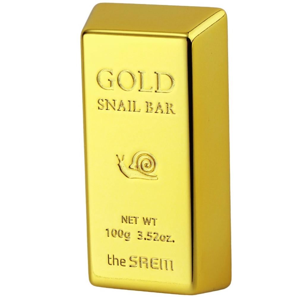 Мыло для умывания с экстрактом золота и муцина улитки The Saem Gold Snail Bar 100 г (8806164117026)