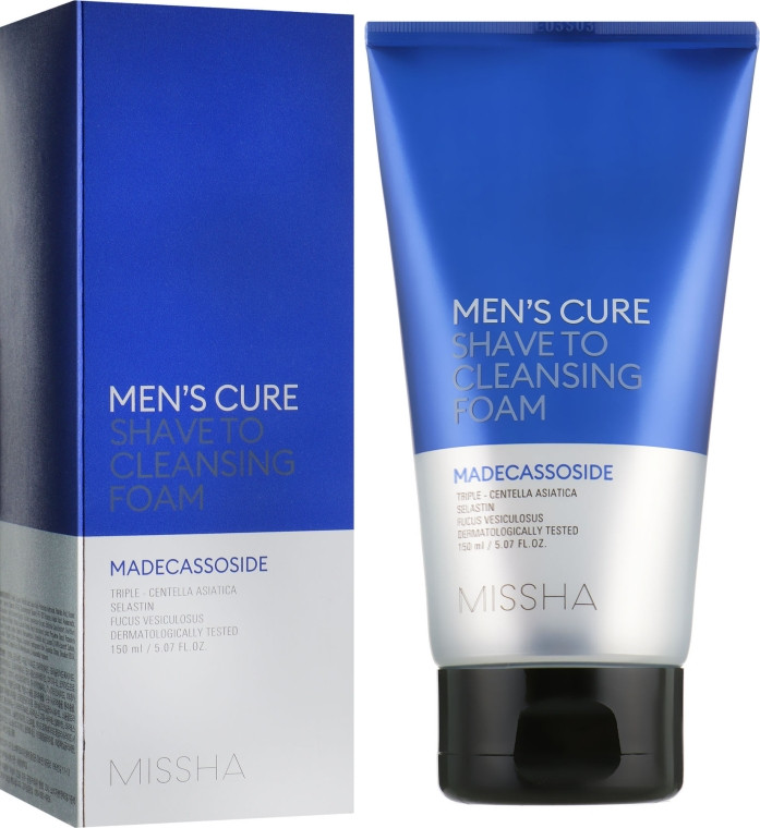 Пенка для умывания и бритья для мужчин Missha Men's Cure Shave To Cleansing Foam 150 мл (8809581460218)