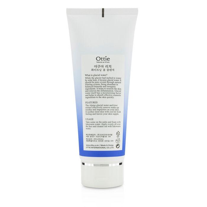 Отбеливающая пенка для умывания Ottie Aqua Rich Whitening Foam Cleanser 150 мл (8809276016720)