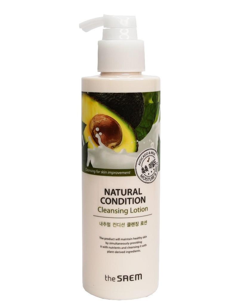 Мягкий лосьон для глубокого очищения кожи лица The Saem Natural Condition Cleansing Lotion 200 мл (8806164145203)