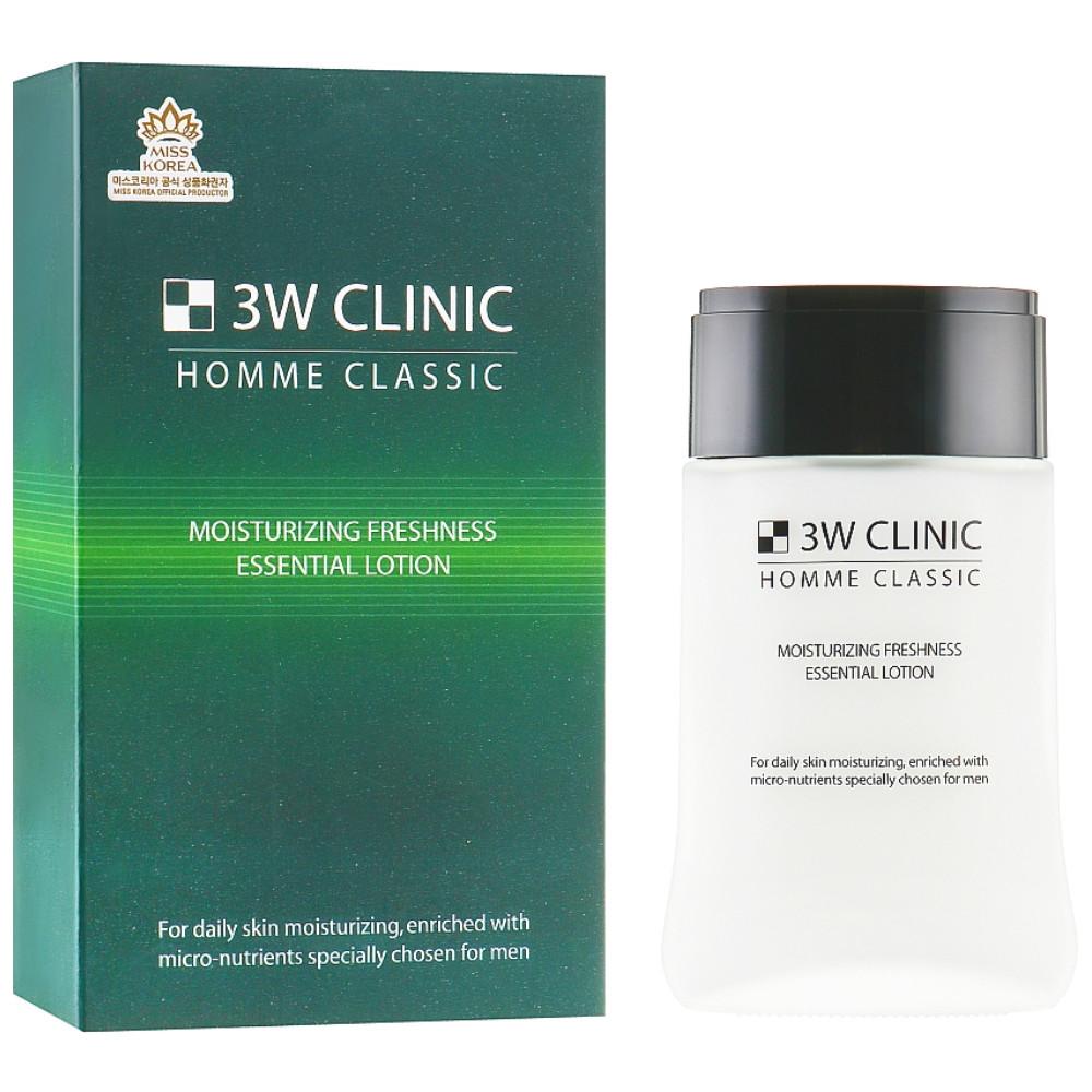 Мужской освежающий лосьондля лица 3W Clinic Homme Classic Moisturizing Freshness Essential Lotion 150 мл (8809180014997)