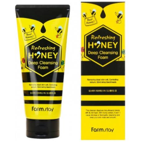 Пенка для умывания глубокого очищения с экстрактом меда Farmstay Refreshing Honey Deep Cleansing Foam 180 мл (8809480772313)