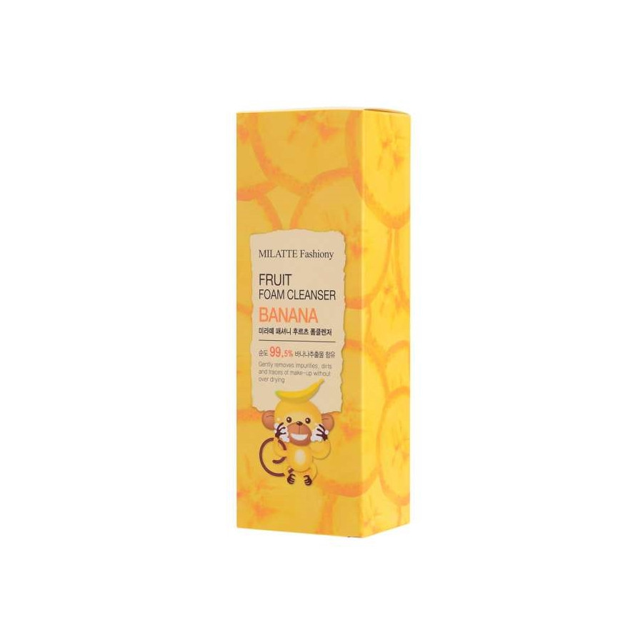 Пенка для умывания с экстрактом банана Milatte Fashiony Fruit Foam Cleanser Banana 150 мл (8803348029304)