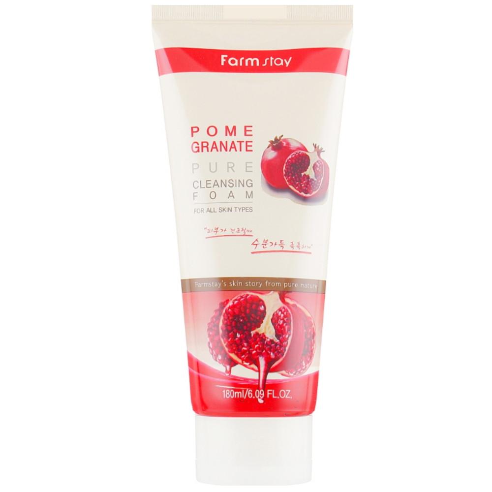 Пенка для умывания лица с экстрактом граната Farmstay Pomegranate Pure Cleansing Foam 180 мл (8809317289618)