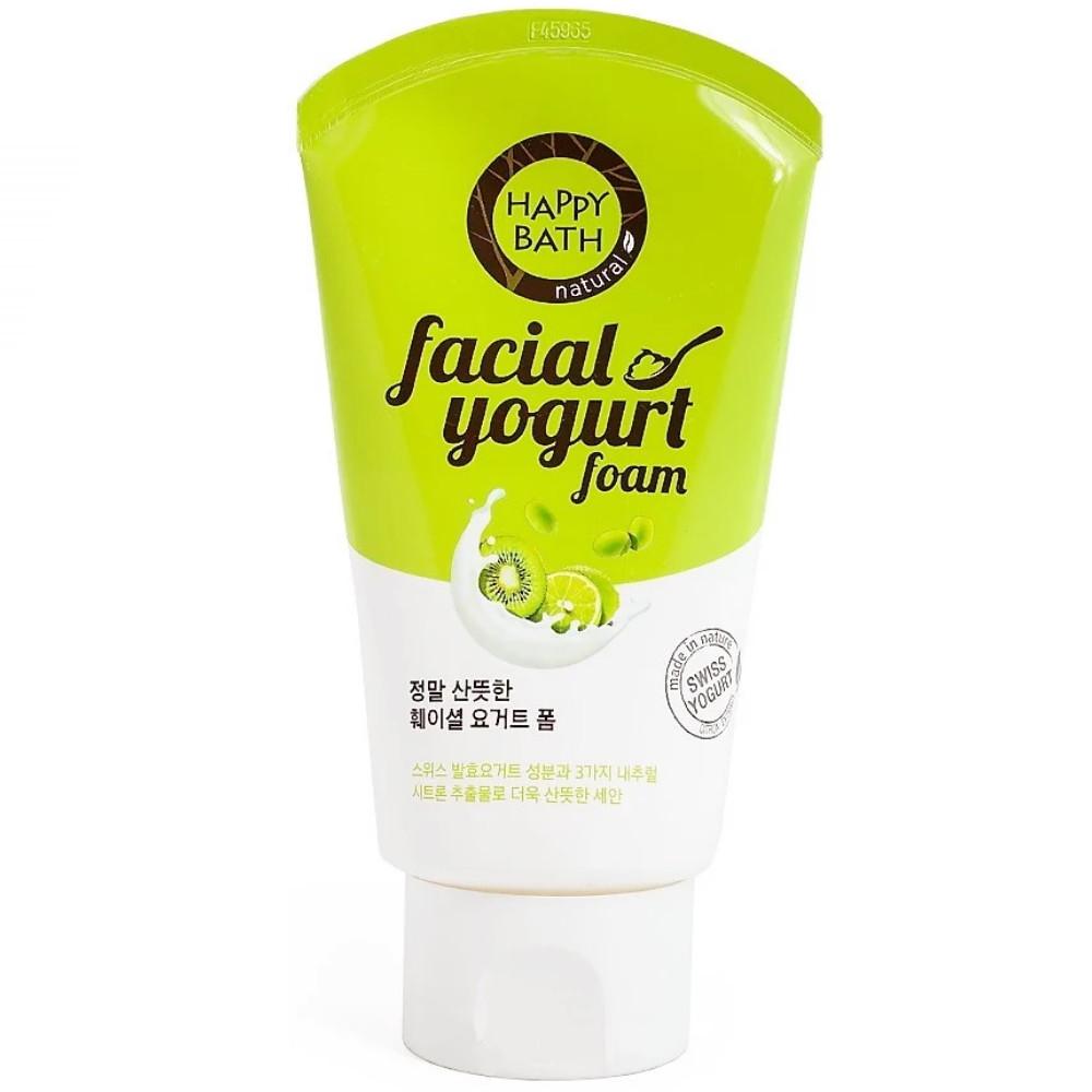 Пенка для умывания жирной кожи лица с лавандой и лимоном Happy Bath Real Fresh Facial Yogurt Foam 120 г (8806403090929)