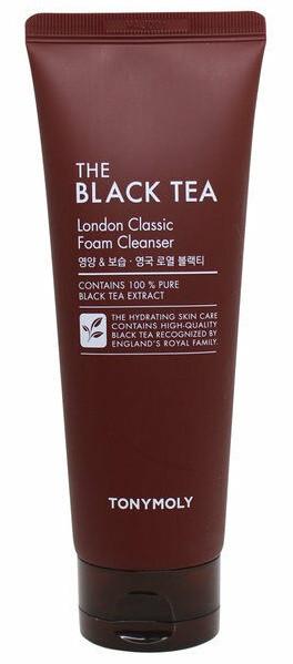Пенка для умывания лица с экстрактом черного чая Tony Moly The Black Tea London Classic Foam 80 мл (8806194002286)