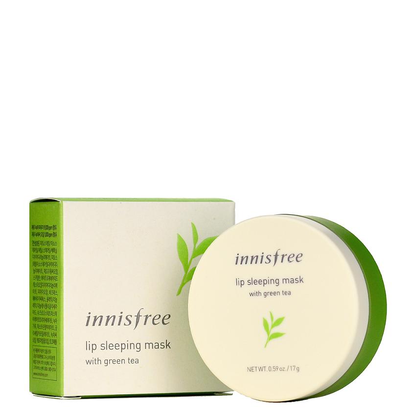 Ночная маска для губ с зеленым чаем Innisfree Lip Sleeping Mask With Green Tea 17 мл (8809560274485)