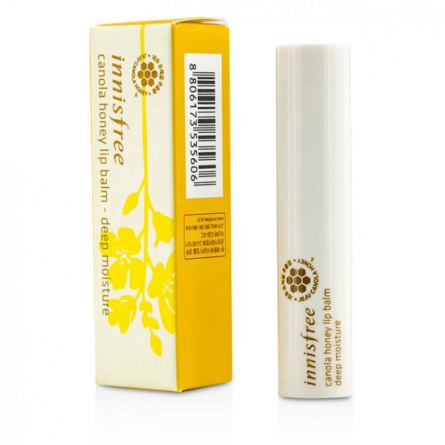 Увлажняющий бальзам для губ с экстрактом мёда канола Innisfree Canola Honey Lip Balm Deep Moisture 3,5 г (8809612853927)