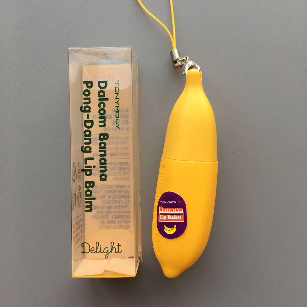 Бальзам для губ с банановым экстрактом Tony Moly Delight Dalcom Banana Pong Dang Lip Balm 7 г (8806358520717)