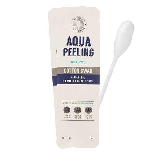 Кислотный пилинг с 5% AHA/BHA A'pieu Aqua Peeling Cotton Swab Mild 1 шт (8806185740173)