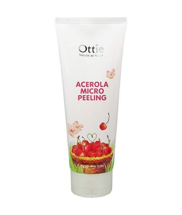 Пилинг для лица с натуральной целлюлозой и ацеролой Ottie Acerola Micro Peeling 150 мл (8809082738182)