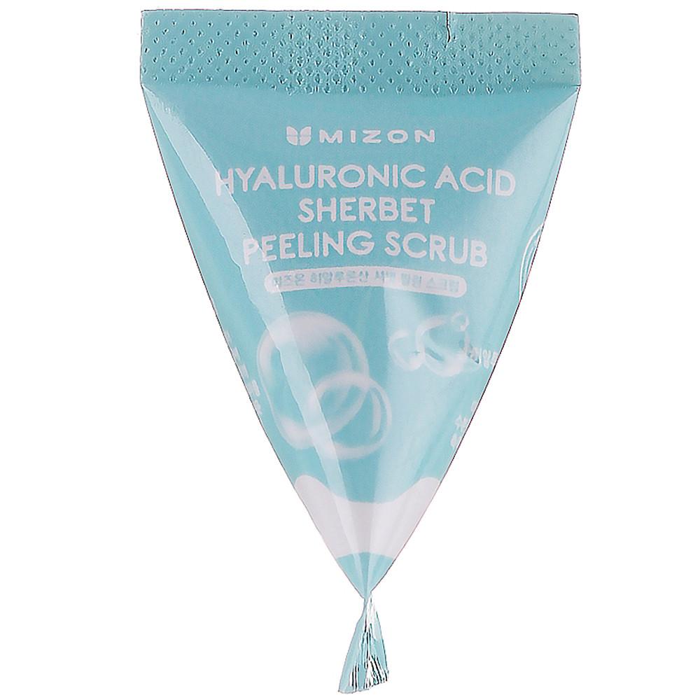 Скраб-щербет для лица с содой и гиалуроновой кислотой Mizon Hyaluronic Sherbet Peeling Scrub 7 г (3205)