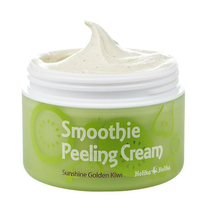 Отшелушивающий пилинг-крем для лица с экстрактом киви Holika Holika Smoothie Peeling Cream Sunshine Golden (8806334334178)
