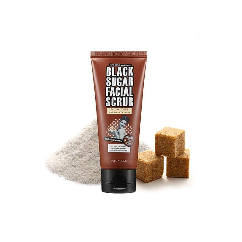 Сахарный скраб для очищения кожи лица Tosowoong Black Sugar Scrub 100 мл (8809077128493)