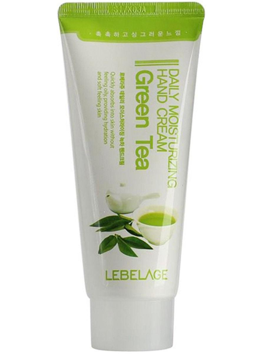 Увлажняющий крем для рук с экстрактом оливы Lebelage Daily Moisturising Hand Cream Water Green Tea 100 мл (8809317286372)