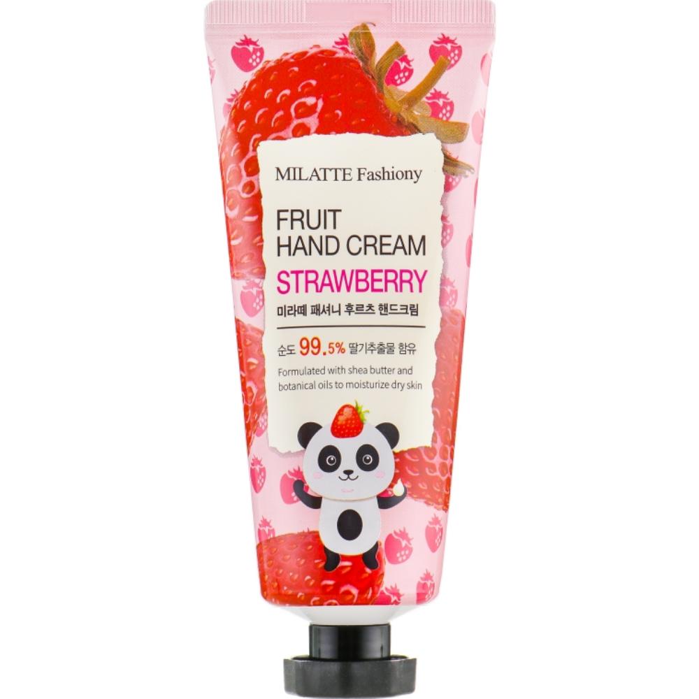 Крем для рук фруктовый клубника Milatte Fashiony Fruit Hand Cream Strawberry 60 мл (8803348029274)